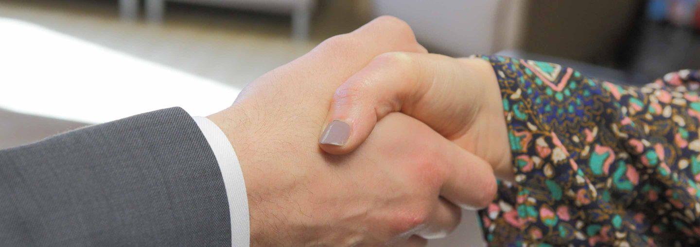 handshake with attorney