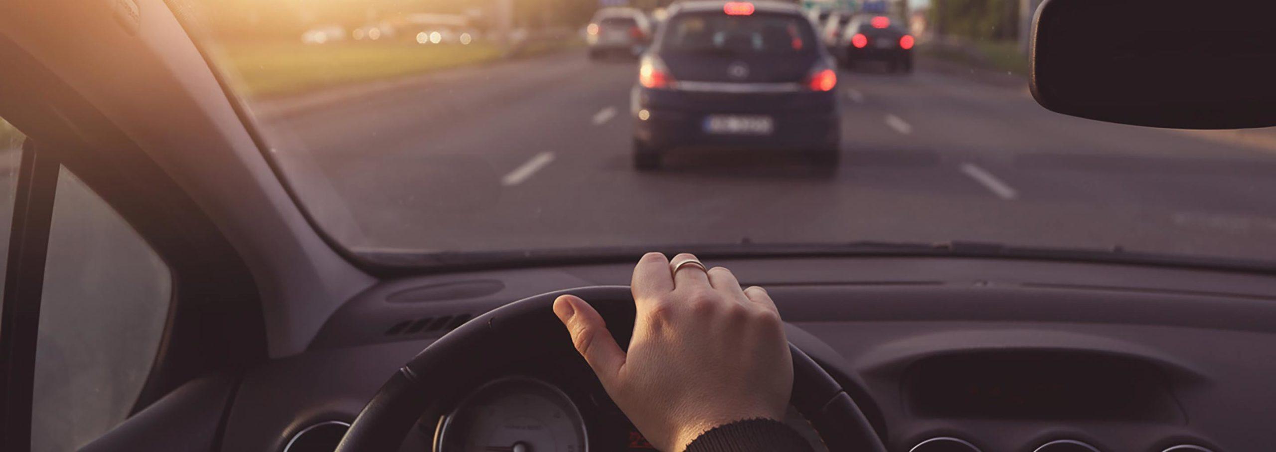 car in traffic