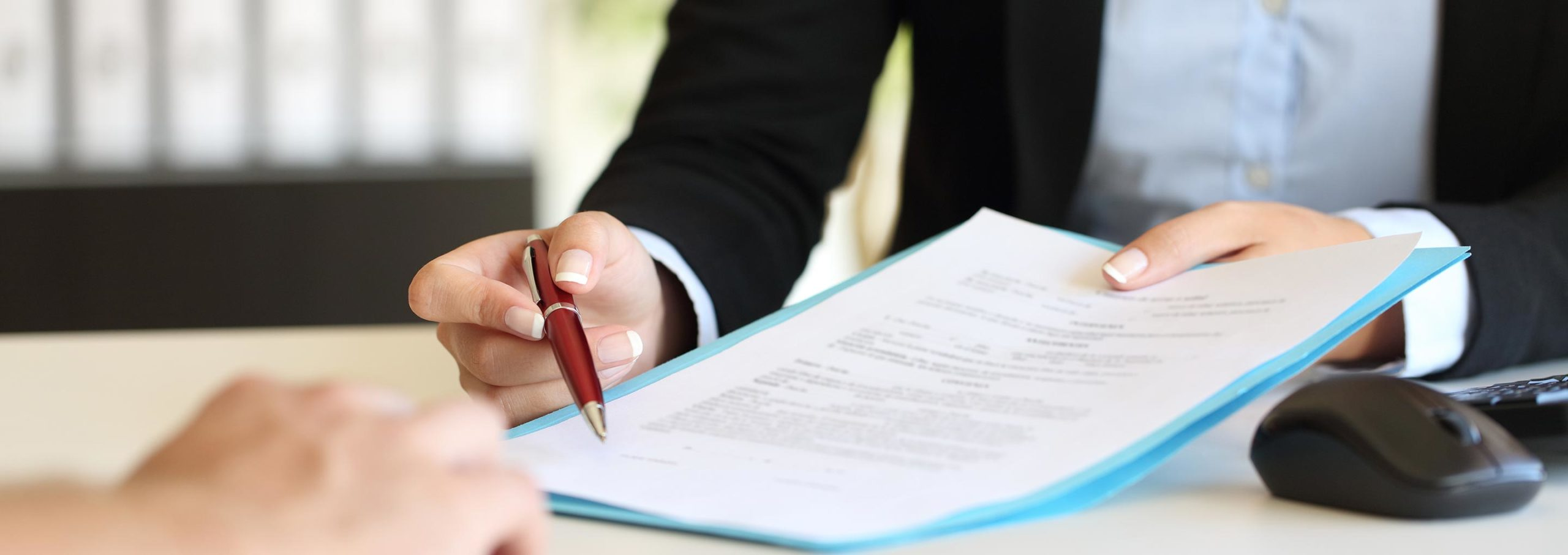 paralegal with document